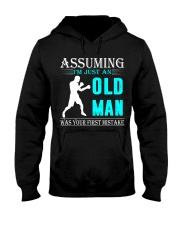 boxing old man Hooded Sweatshirt front