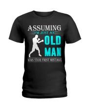 boxing old man Ladies T-Shirt thumbnail