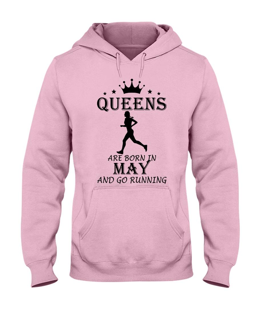 queens running-may Hooded Sweatshirt