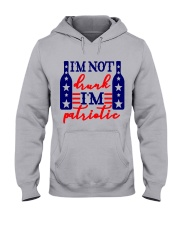 like wine love patriotic Hooded Sweatshirt front