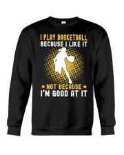 girl like basketball Crewneck Sweatshirt thumbnail