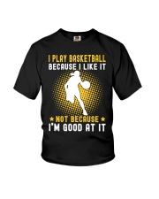 girl like basketball Youth T-Shirt thumbnail