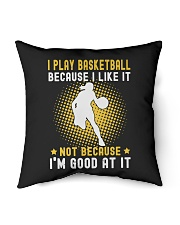 "girl like basketball Indoor Pillow - 16"" x 16"" thumbnail"