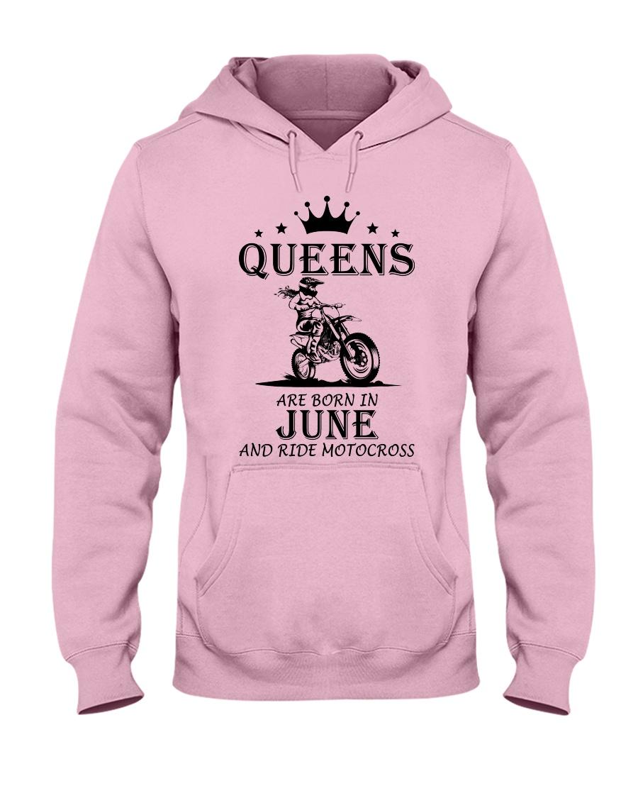queens motocross-june Hooded Sweatshirt