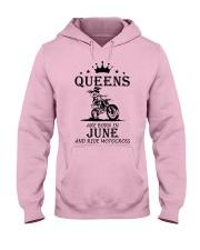 queens motocross-june Hooded Sweatshirt front