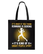 running smart sport lady Tote Bag thumbnail