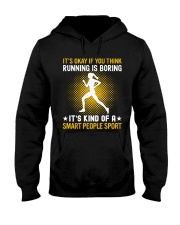 running smart sport lady Hooded Sweatshirt front