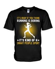 running smart sport lady V-Neck T-Shirt thumbnail