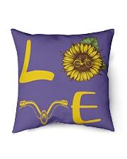 "Love bike Indoor Pillow - 16"" x 16"" thumbnail"