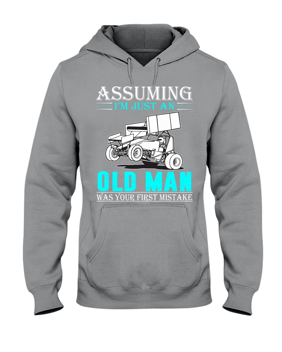 micro sprint car old man n002 Hooded Sweatshirt