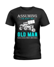 micro sprint car old man n002 Ladies T-Shirt thumbnail