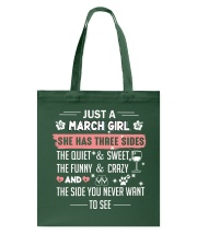 just a march girl Tote Bag thumbnail