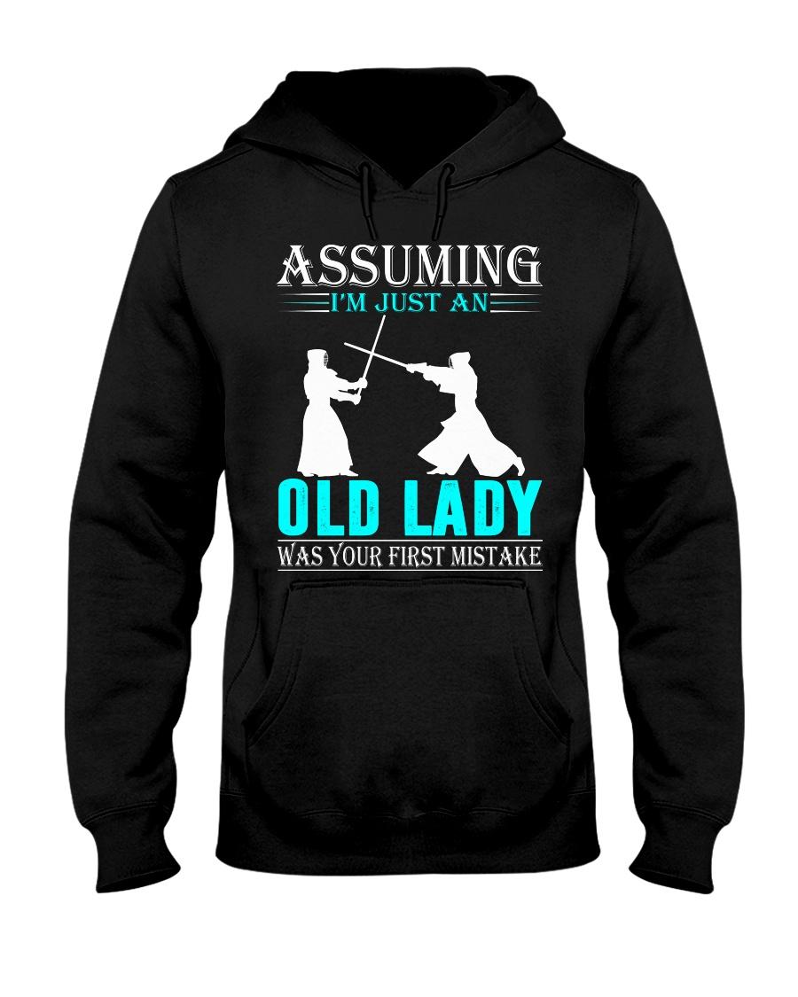 kendo old lady Hooded Sweatshirt