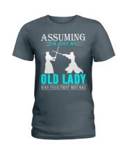 kendo old lady Ladies T-Shirt thumbnail