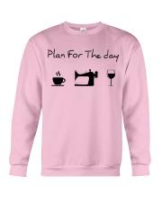 Plan fot the day sewing Crewneck Sweatshirt thumbnail
