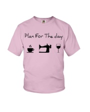 Plan fot the day sewing Youth T-Shirt thumbnail