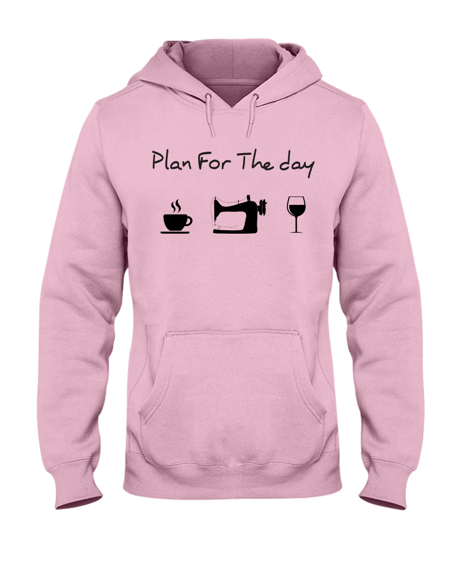 Plan fot the day sewing Hooded Sweatshirt