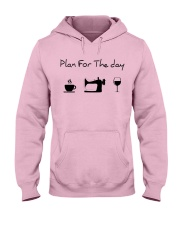 Plan fot the day sewing Hooded Sweatshirt front