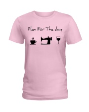 Plan fot the day sewing Ladies T-Shirt thumbnail