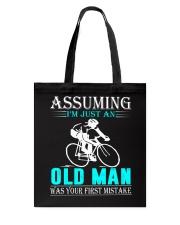 cycling old man Tote Bag thumbnail
