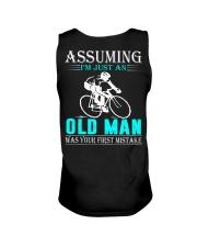 cycling old man Unisex Tank thumbnail