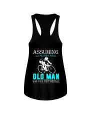 cycling old man Ladies Flowy Tank thumbnail