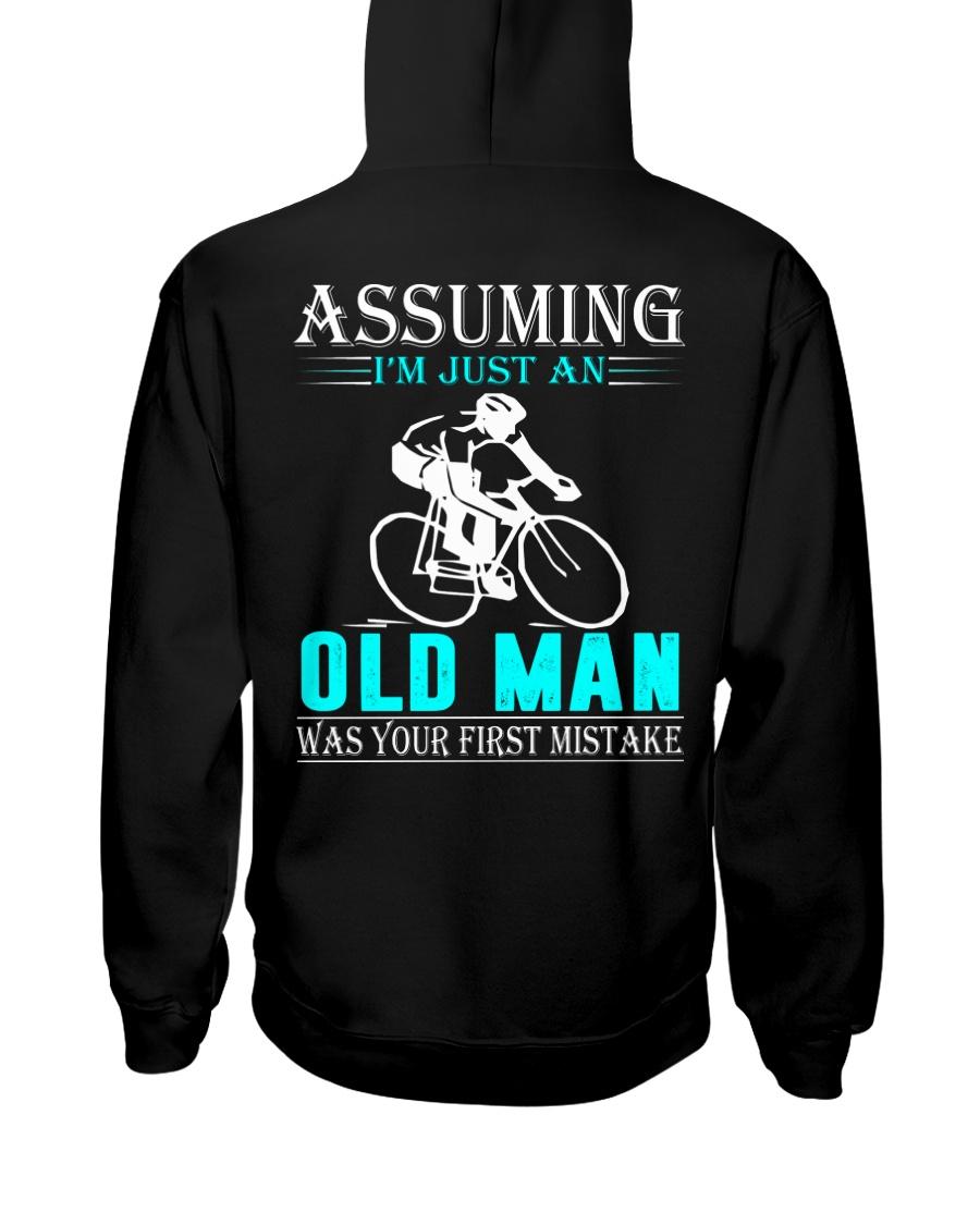 cycling old man Hooded Sweatshirt