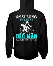 cycling old man Hooded Sweatshirt back