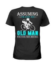 cycling old man Ladies T-Shirt thumbnail