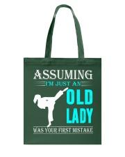 karate old lady Tote Bag thumbnail