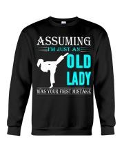 karate old lady Crewneck Sweatshirt thumbnail