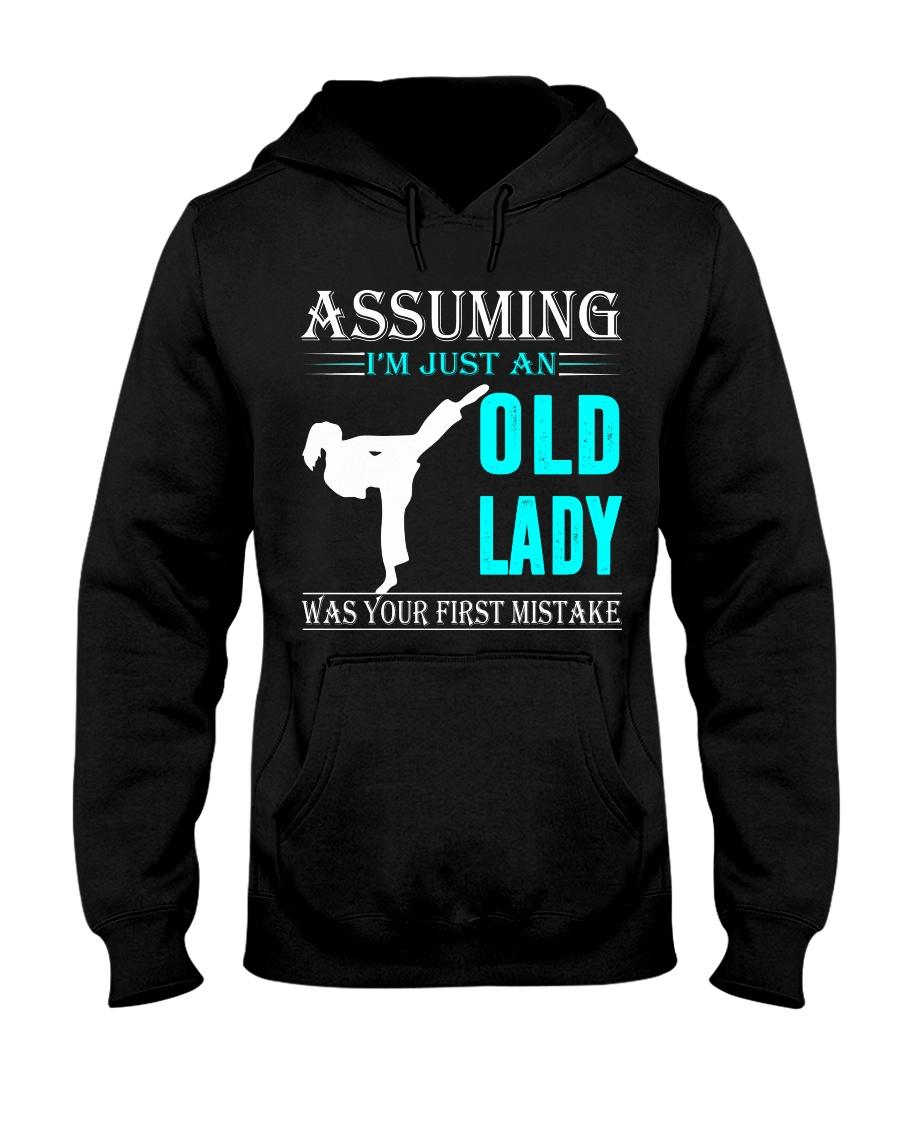karate old lady Hooded Sweatshirt