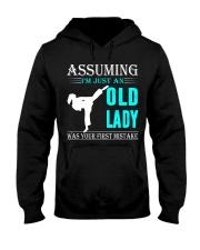 karate old lady Hooded Sweatshirt front