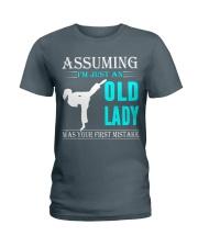 karate old lady Ladies T-Shirt thumbnail