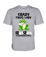 frog lady V-Neck T-Shirt thumbnail