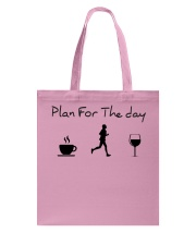 Plan for the day running Tote Bag thumbnail