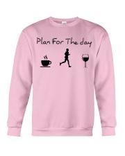 Plan for the day running Crewneck Sweatshirt thumbnail