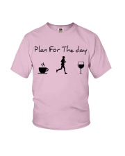 Plan for the day running Youth T-Shirt thumbnail