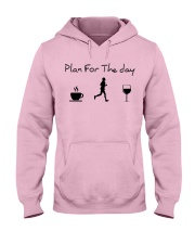 Plan for the day running Hooded Sweatshirt front