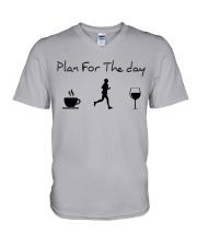 Plan for the day running V-Neck T-Shirt thumbnail