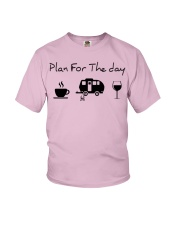 Plan for the day camping Youth T-Shirt thumbnail