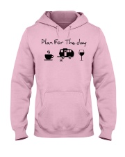 Plan for the day camping Hooded Sweatshirt front