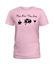 Plan for the day camping Ladies T-Shirt thumbnail