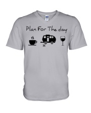 Plan for the day camping V-Neck T-Shirt thumbnail