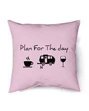 "Plan for the day camping Indoor Pillow - 16"" x 16"" thumbnail"