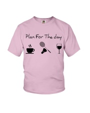 Plan for the day badminton Youth T-Shirt thumbnail