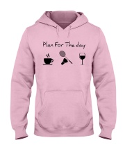 Plan for the day badminton Hooded Sweatshirt front