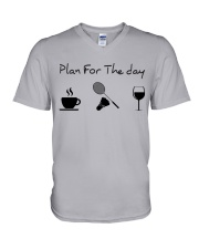Plan for the day badminton V-Neck T-Shirt thumbnail