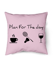 """Plan for the day badminton Indoor Pillow - 16"""" x 16"""" thumbnail"""