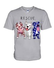 Rescue Pitties V-Neck T-Shirt thumbnail